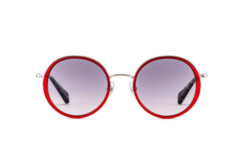 Gigi Studios Venus Sun 6361 6 Dark Red Grey Polarized METALL AZETAT 16