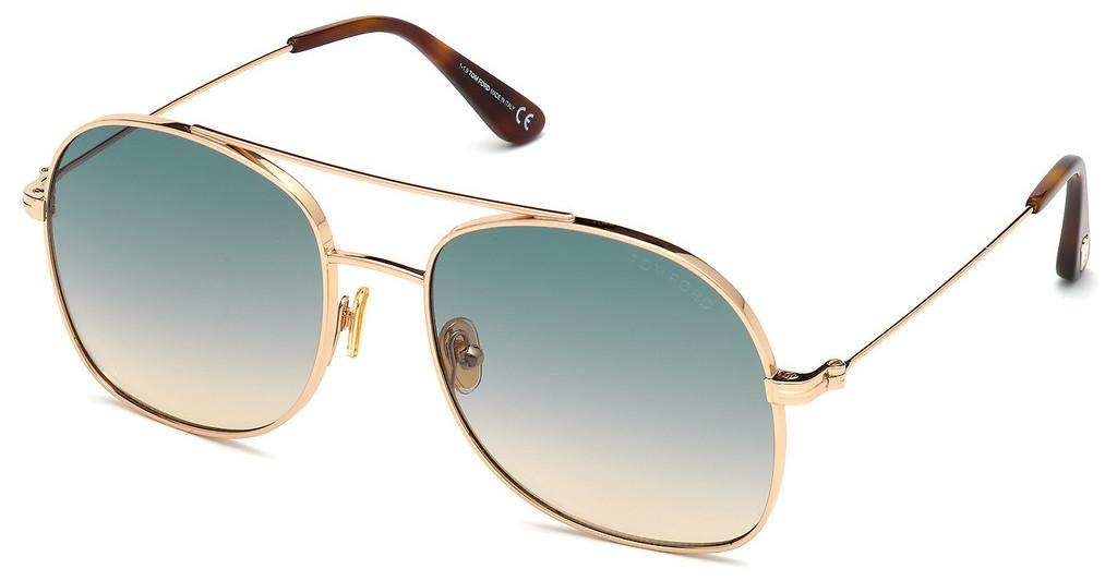 TOM FORD TF0758 28P Metall 10.1